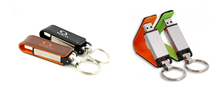 Key Ring Bussiness Leather Usb Flash Memory Stick Card Pen Drive 8gb 16gb Real Capacity Usb Flash Drive for gift or use