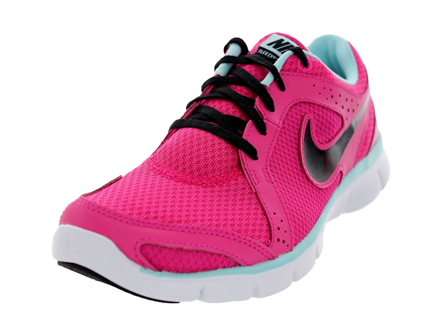 5c40396fc5dbd Get Quotations · Nike Flex Experience Run Pink Black Ladies Running Shoes