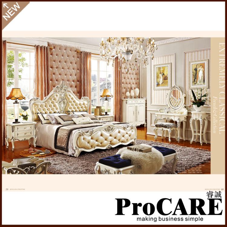 King Size Luxury Bedroom Furniture Set 1.8m Big Bed