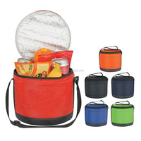 Top Zippered Closure Cans-To-Go Round Kooler Bag
