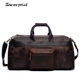 YD-8030 Vintage Crazy Horse Leather 2018 Large Capacity Duffle Bags Travel Bags Weekender Bags