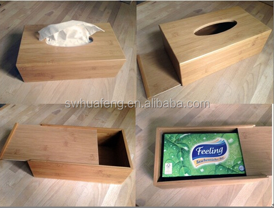 2016 Hotest Bamboo Retractable Storage Box For Paper Towel