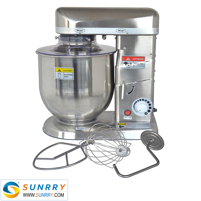 10.5L Gear For Food Mixer Stainless Steel Range Food Cement Mixer With CE Certification