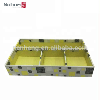 NAHAM office supply cardboard 4 serving tray with compartments