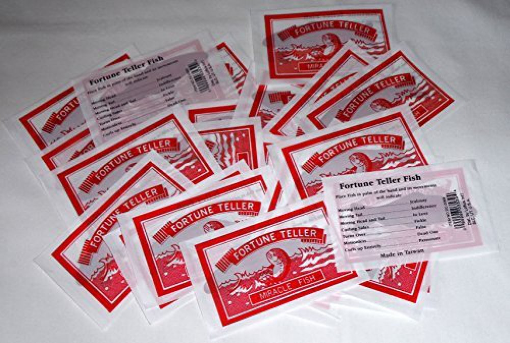 Fortune Teller Miracle Fish, Lots of 72, Great for Party Favors (4077)