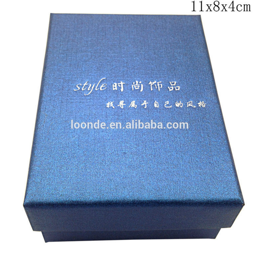 Wholesale pretty beautiful blue paper packaging box