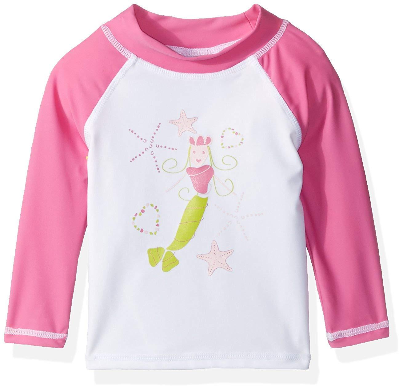 Flap Happy Baby Girls UPF 50+ Graphic Rash Guard/Swim Top,