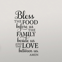 Bless the Food Before Us quotes wall stickers Removable Home Decor wall decal quotes Stickers Waterproof decorative wall picture