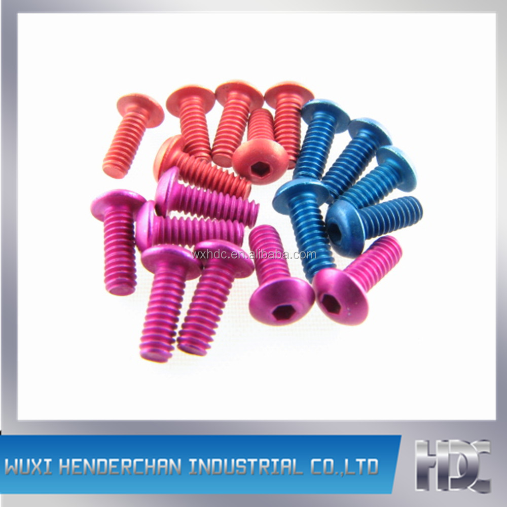 Anodized 7075 Aluminum bolts
