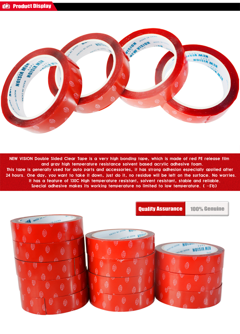 Waterproof strong adhesion VHB Tape clear acrylic foam vhb double sided tape