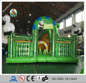 new inflatable bamboo bouncer castle fun city slide game for kids