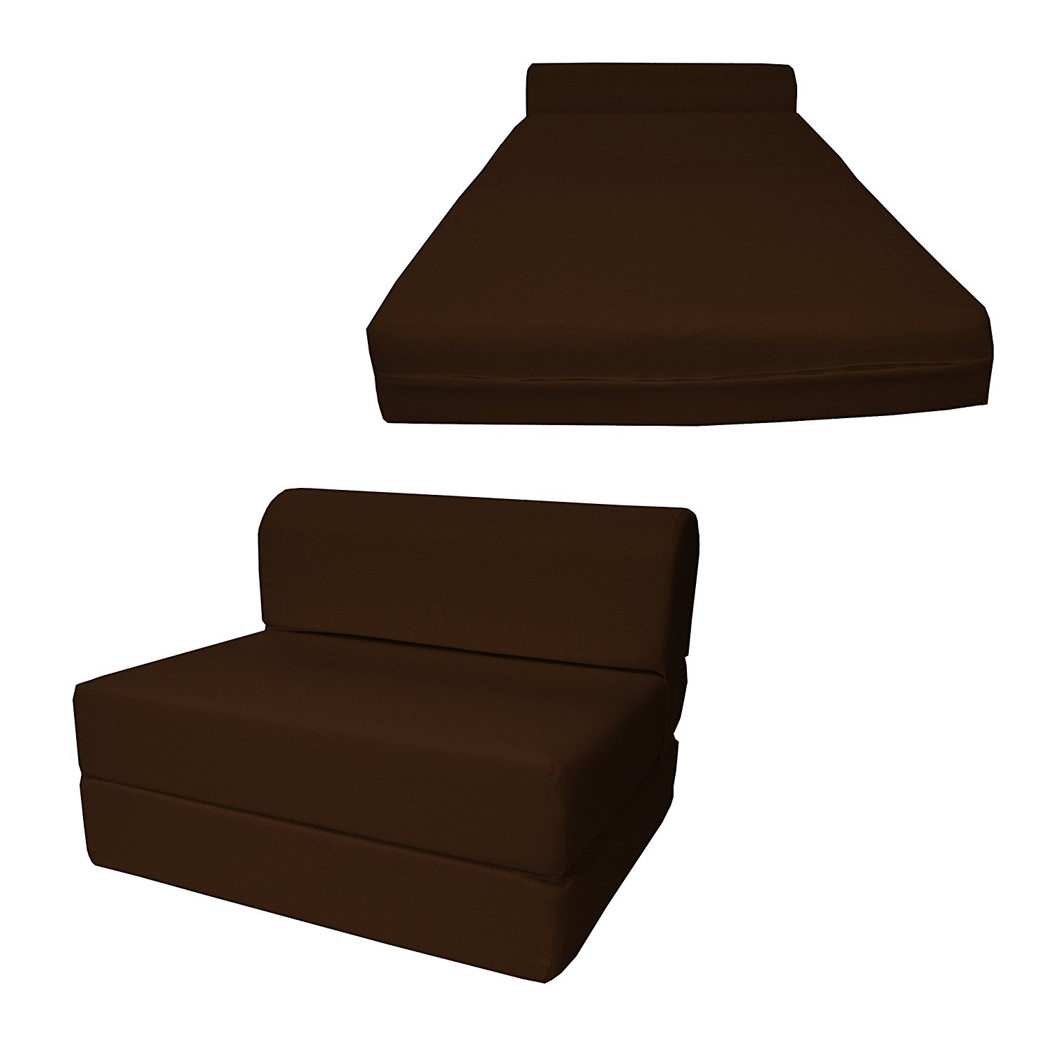 Get Quotations 6 Thick X 36 Wide 70 Long Twin Size Brown Sleeper Chair