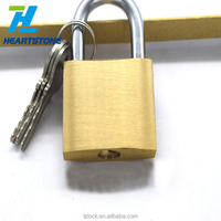 2018 new design good quality best price 3 keys brass padlock 38mm