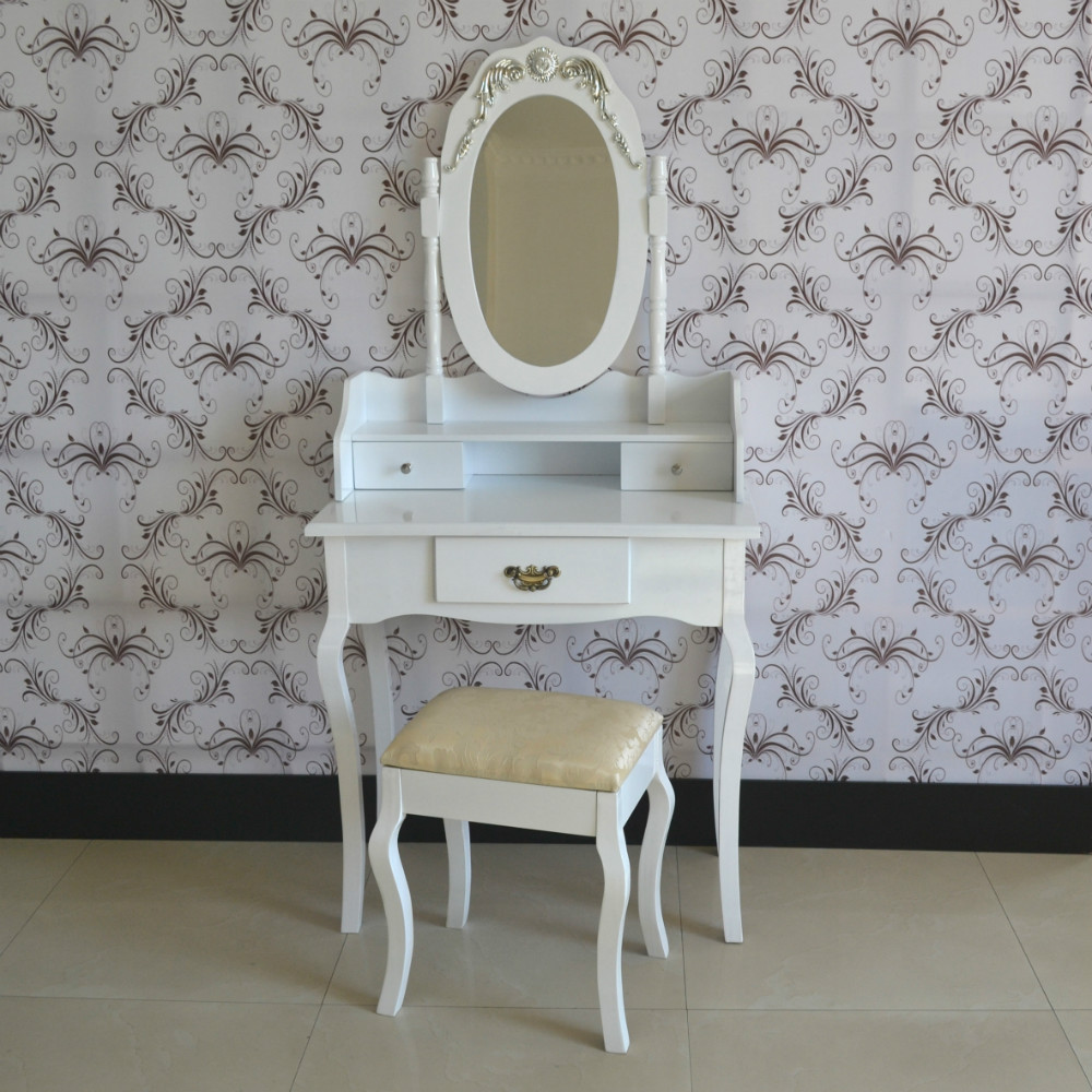 French Furniture White Vintage Dresser With Mirror Drawers Bed Room
