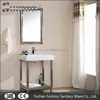 Sv 15384 Stainless Steel Bathroom Washstand Vanity Buy Washstand