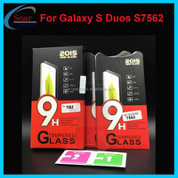 mobil phone accessories for Samsung Galaxy S Duos S7562 cell phone tempered glass