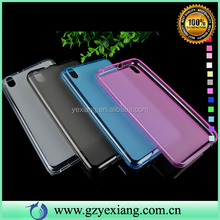 Hot selling soft gel pudding tpu Back Cover Case for HTC Desire 816 case cover