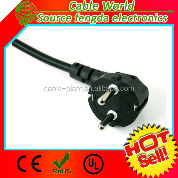 Europe AC power cord CEE7/7 to IEC320 C13 250V 10A 14AWG