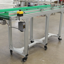 Easy cleaning aluminium structure belt conveyor assembly line