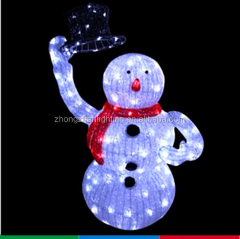 lighted animated snowman with top hat outdoor christmas yard art decoration