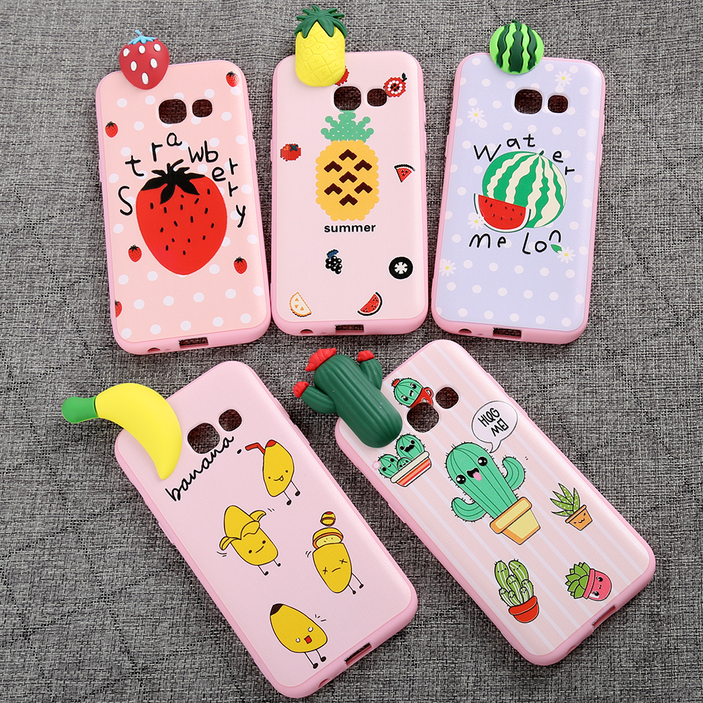 2017 for girls,Lovely Toys Cute 3D fruit Soft TPU Kawaii Phone Case for Apple Iphone 4G/5G/5C