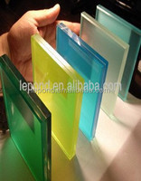 clear colored glass/decors tint 6mm thick laminated frosted glass
