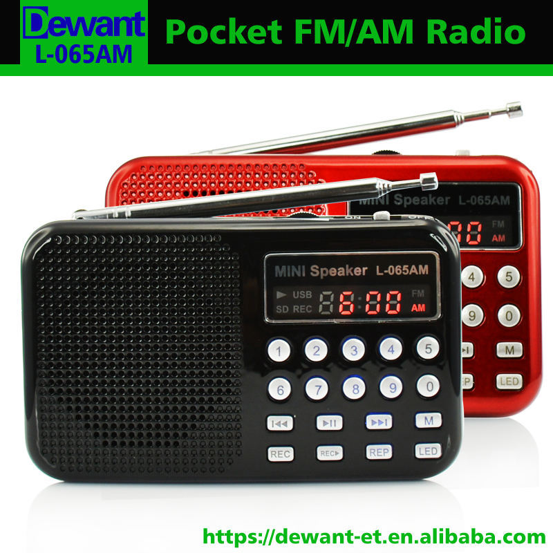 L-065AM mini am/fm rádio mp3 player, mp3 am fm gravador de rádio