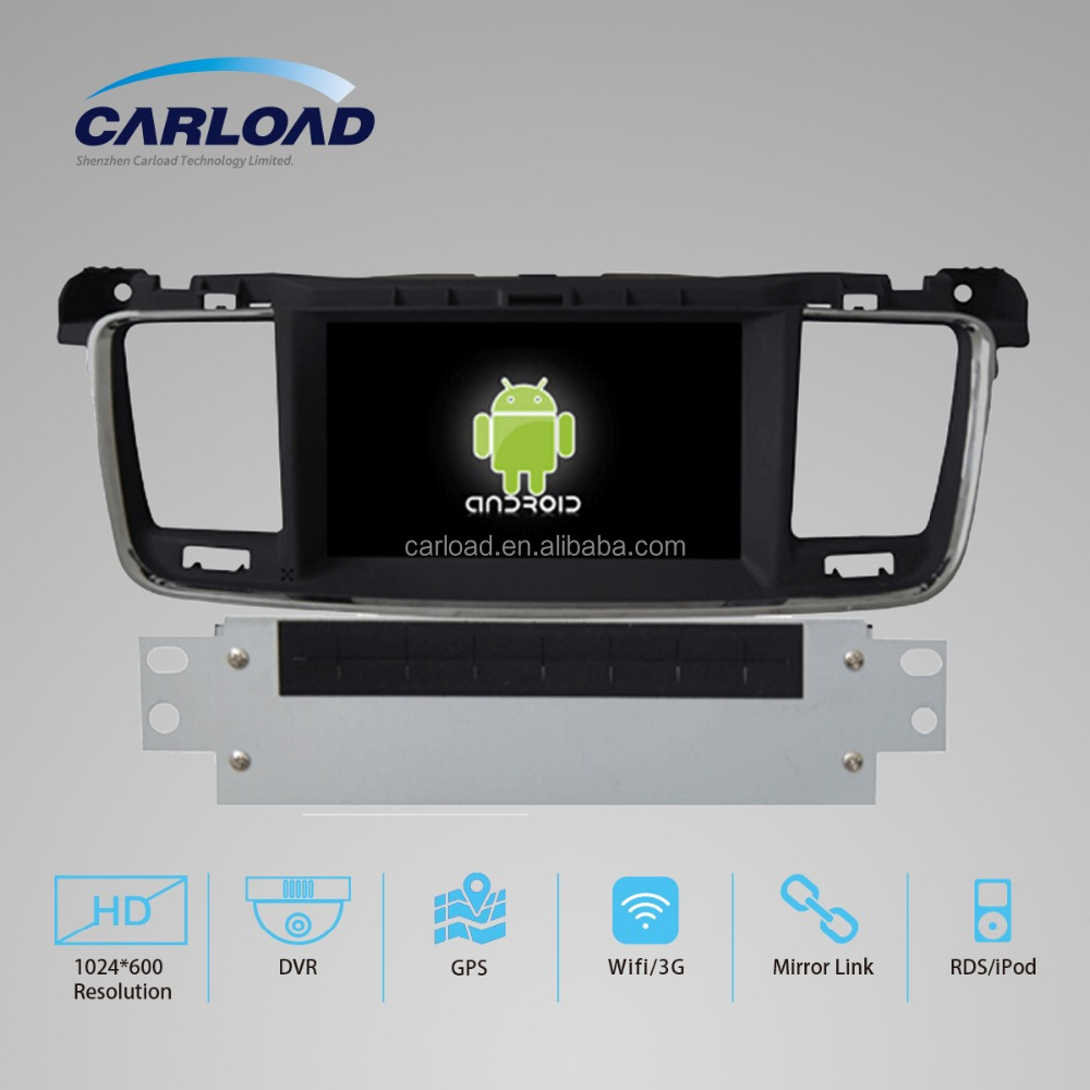 car dvd for quad core android 4.4.4 peugeot 508 car gps with 2 din car dvd player