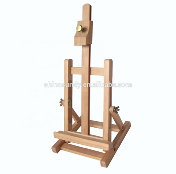 Varnished drawing mini table studio wooden easel