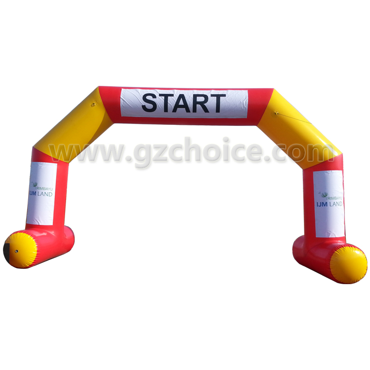 Commerical inflatable sport race star and finish arch for sale