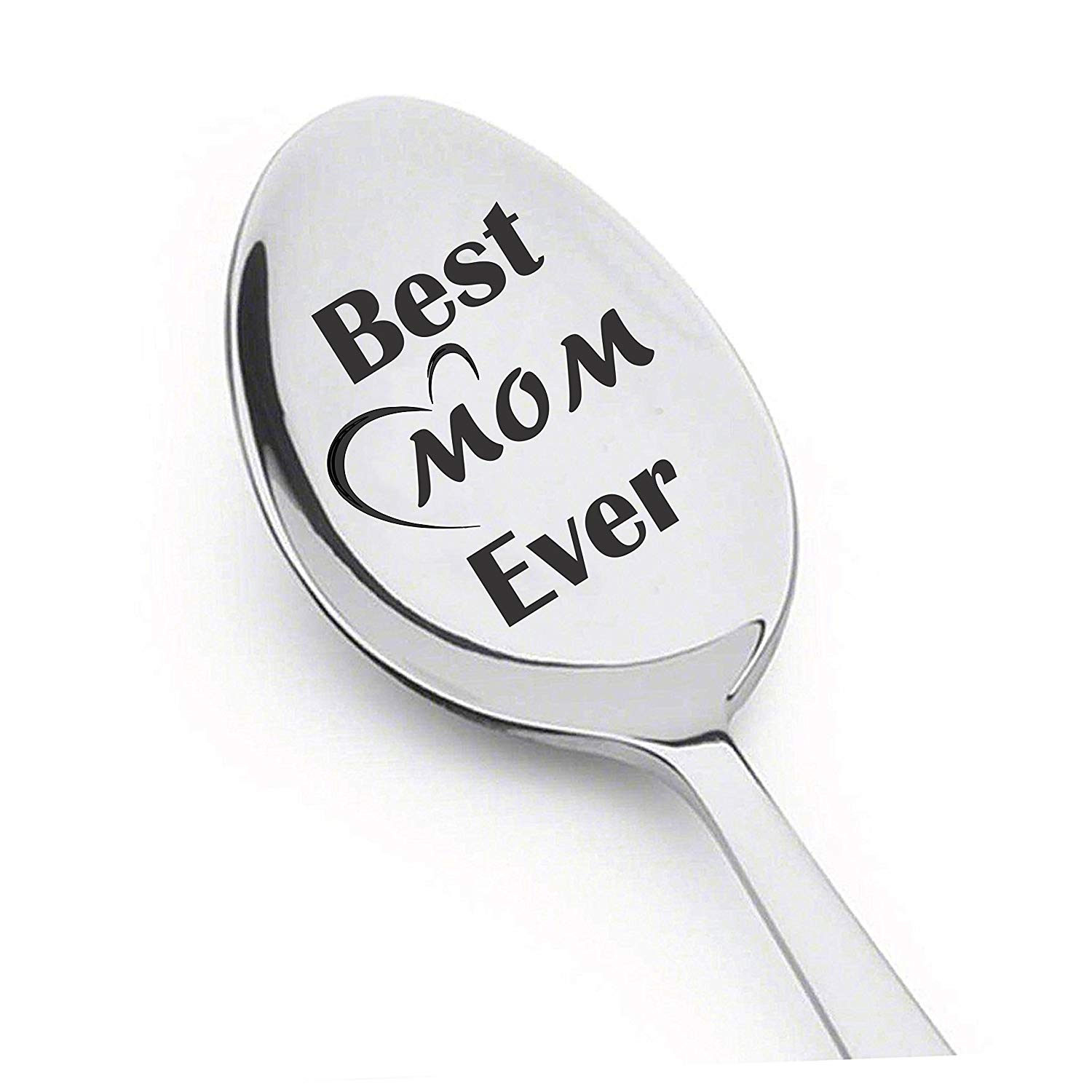 Best Mom Ever Spoon - Christmas/Birthday/Mother's Day Gift For Women, Wife, Granny & Mom! 8 Inch perfectly designed Stainless Steel Spoon. Gifts under 10