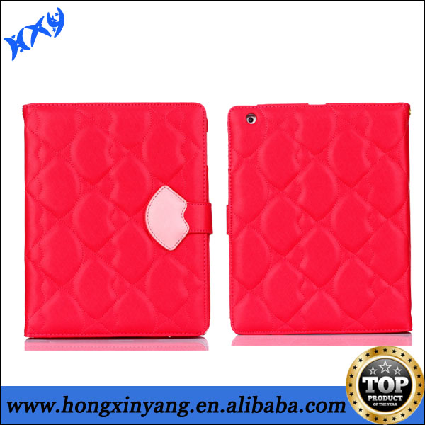 for iPad radiation protection case,leather shell case with back stents