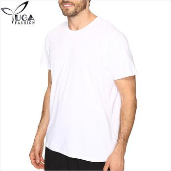079afc338 De Cuello Redondo De 100% Algodón De Manga Corta Camiseta Blanca ...