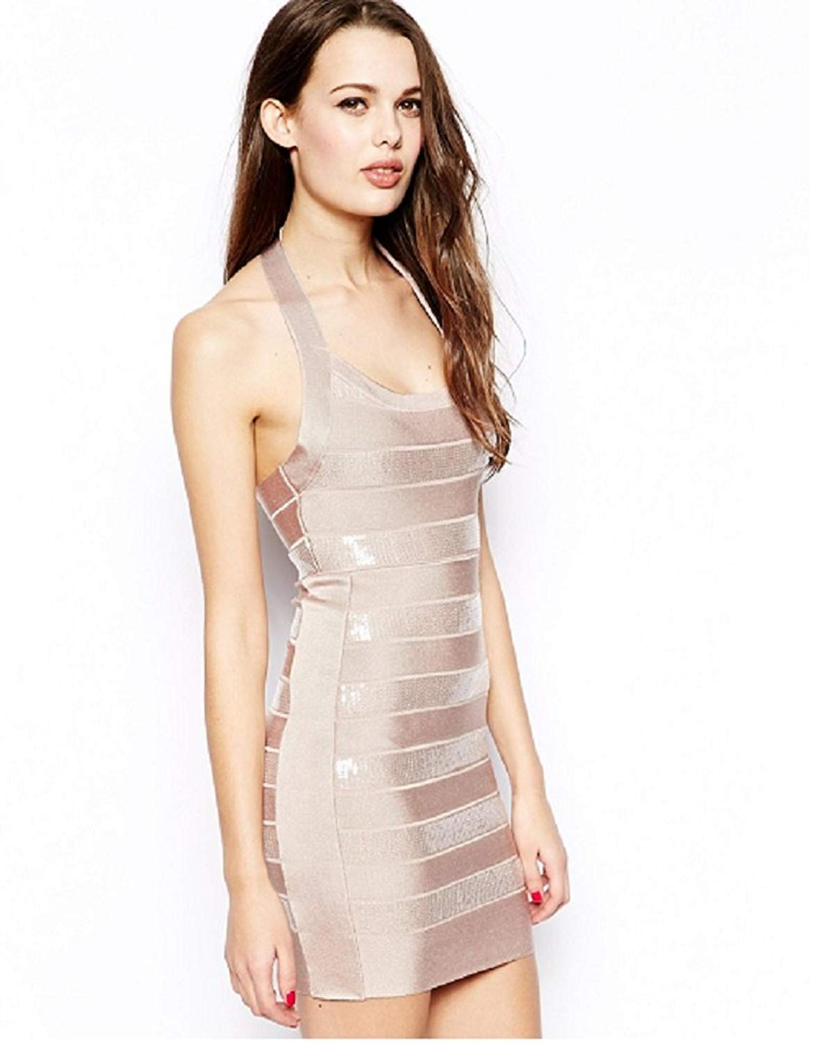 df60bed2b9d Get Quotations · French Connection Fcuk Women's Sparkly Spotlight Bodycon  Dress, ...