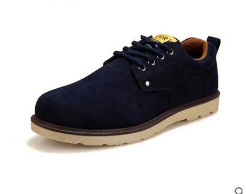 Fashion2015 autumn winter shoes men leather Suede Big Size men sneakers outdoor casual oxford High Quality warm male shoes 39-44