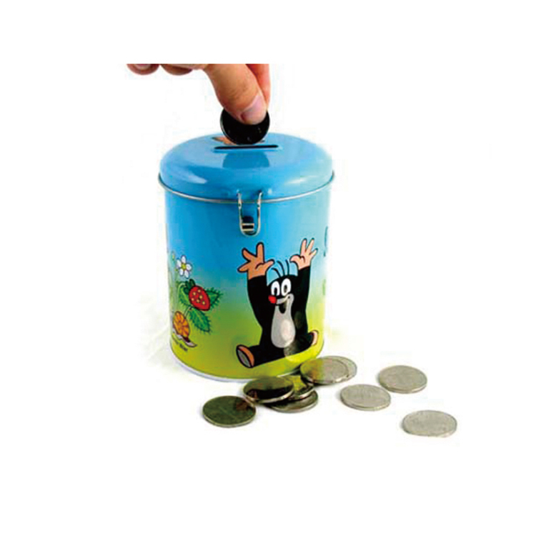 Decorative gift metal money saving bank tin with coin slot
