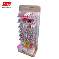TSD-W479 Custom shopping mall high quality essie nail polish floor display,nail polish sale stand,nail polish display rack