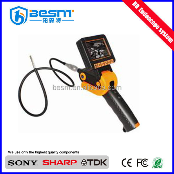 waterproof digital hd borescope industrial driver usb endoscope camera pipe inspection camera with 3.5inch monitor BS-GD14