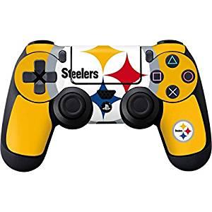 NFL Pittsburgh Steelers PS4 DualShock4 Controller Skin - Pittsburgh Steelers Large Logo Vinyl Decal Skin For Your PS4 DualShock4 Controller