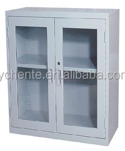 2 Door Small File Cabinet / Half Height Steel Cabinet With 2 Shelf ...