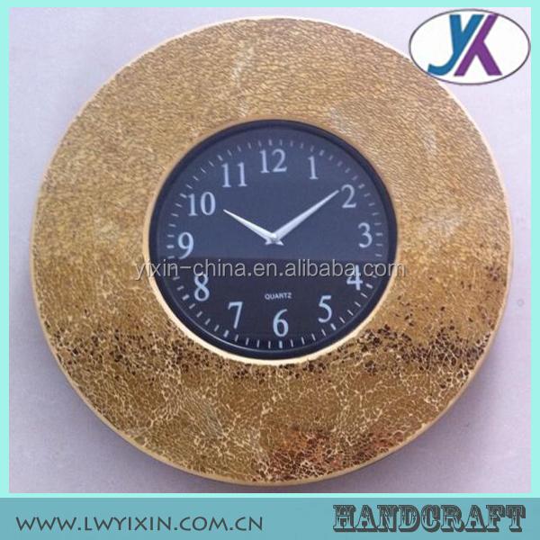 Haute Qualité Miroir Argent Mosaïque Horloge Murale Décorative Horloge Extérieure