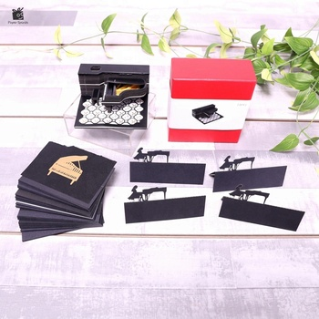 Black Piano 3D Memo Pad Notebook Creative Message Slip