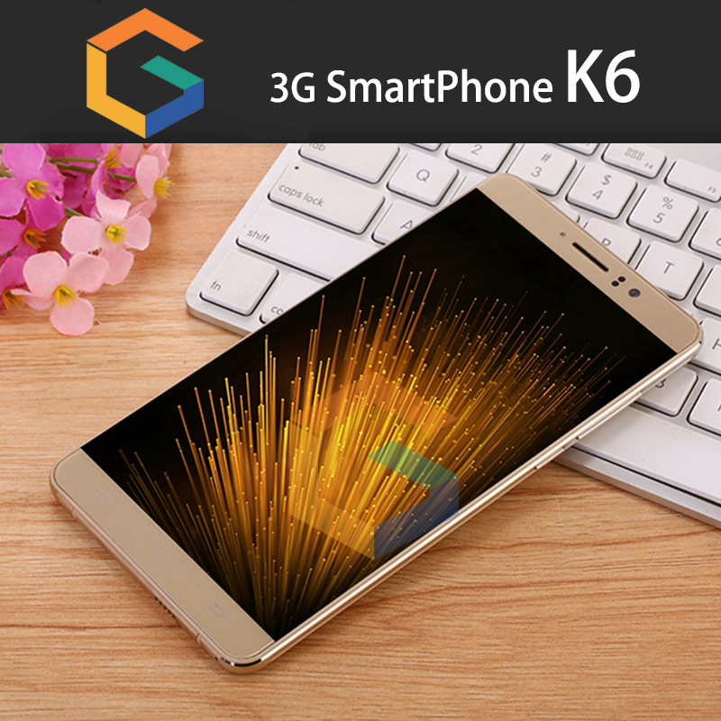 Shenzhen GST Ltd hotsale product K6 bar dual sim card 3G smart phone Metal frame 6.0 inch functional
