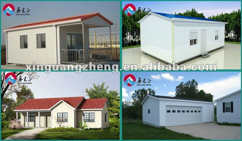 Small house for 4 people family with well design plans,light steel structure prefab houses