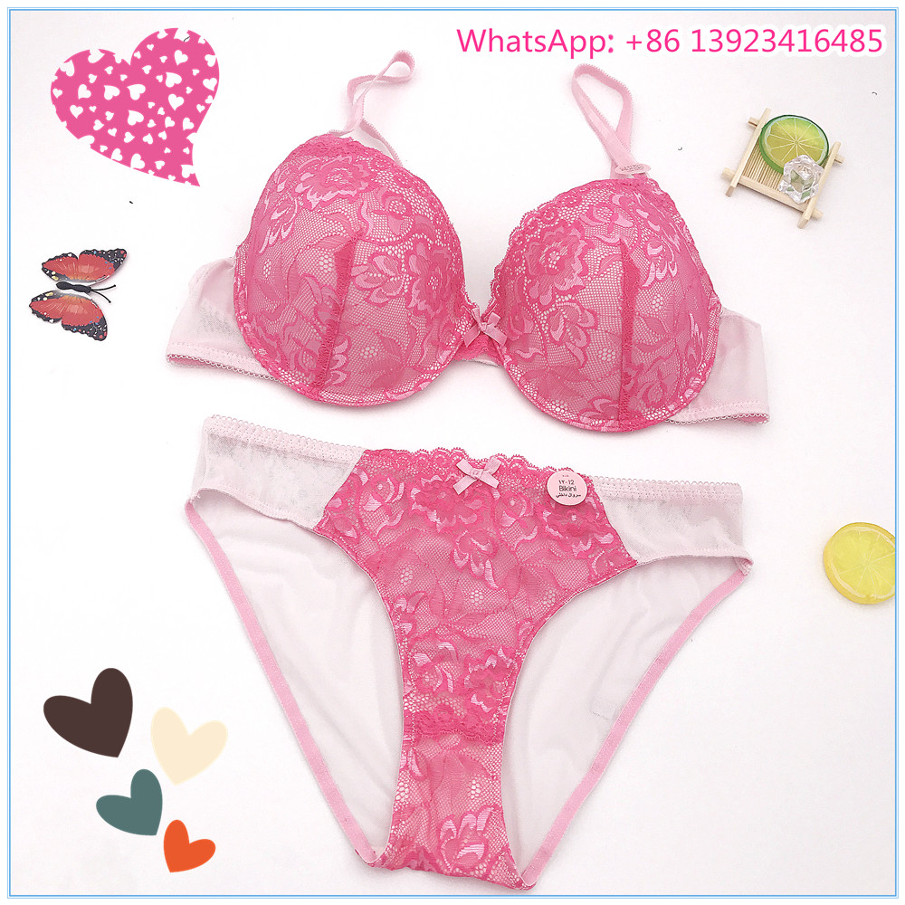 50488e1389 Hot sell Fashion designer ladies High quality sexy lace underwear sets girls  silicone lace bra