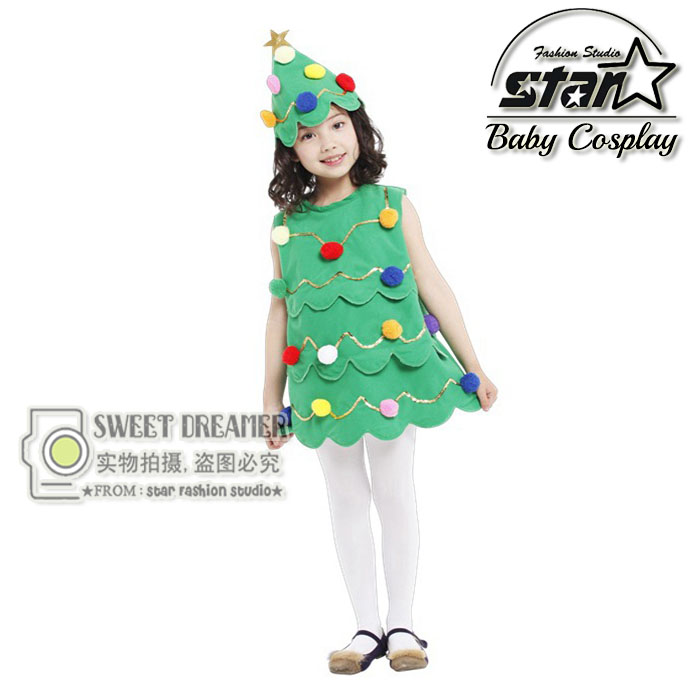 2016 Princess Girls font b Dress b font Baby Girls Clothes Cosplay Christmas Tree font b