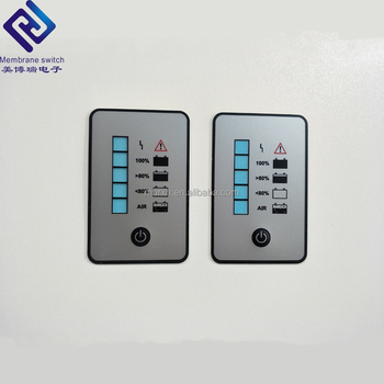 Wholesale custom CNC controller machine waterproof membrane switch panel graphic design with matrix keypad