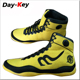 Yellow light color boxing shoes fighting footwear sport shoes russia knitting fabric