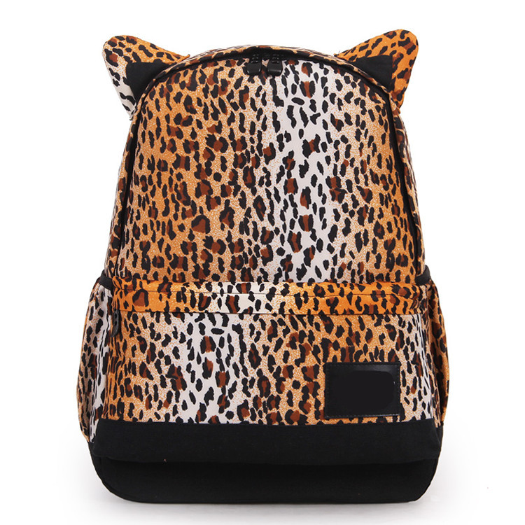 Fashionable Leopard Print Back Bag Manufacturer Wholesale School Backpack Girls College Bags Design From China
