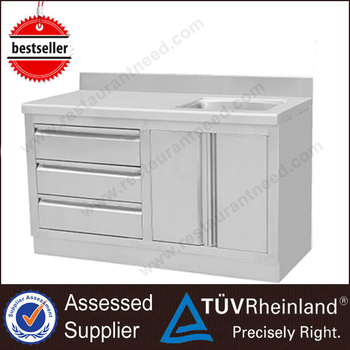 Modern Kitchen Designs SS201/304 Stainless Steel Sink Cabinet